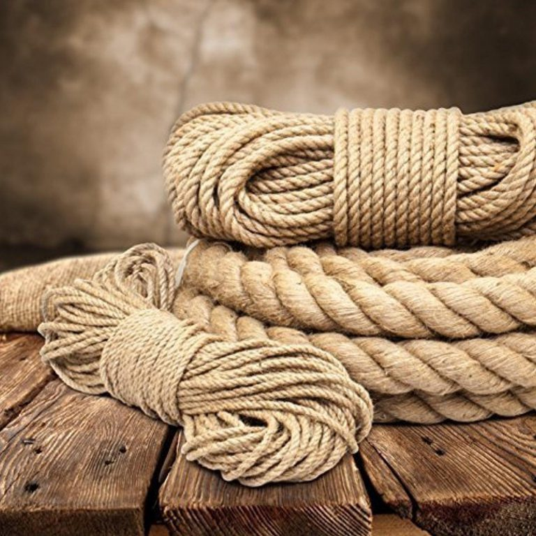 5m jute rope 6mm twisted 3 strand natural different sizes and lengths by dq pp 768x768 - Сети из канатов