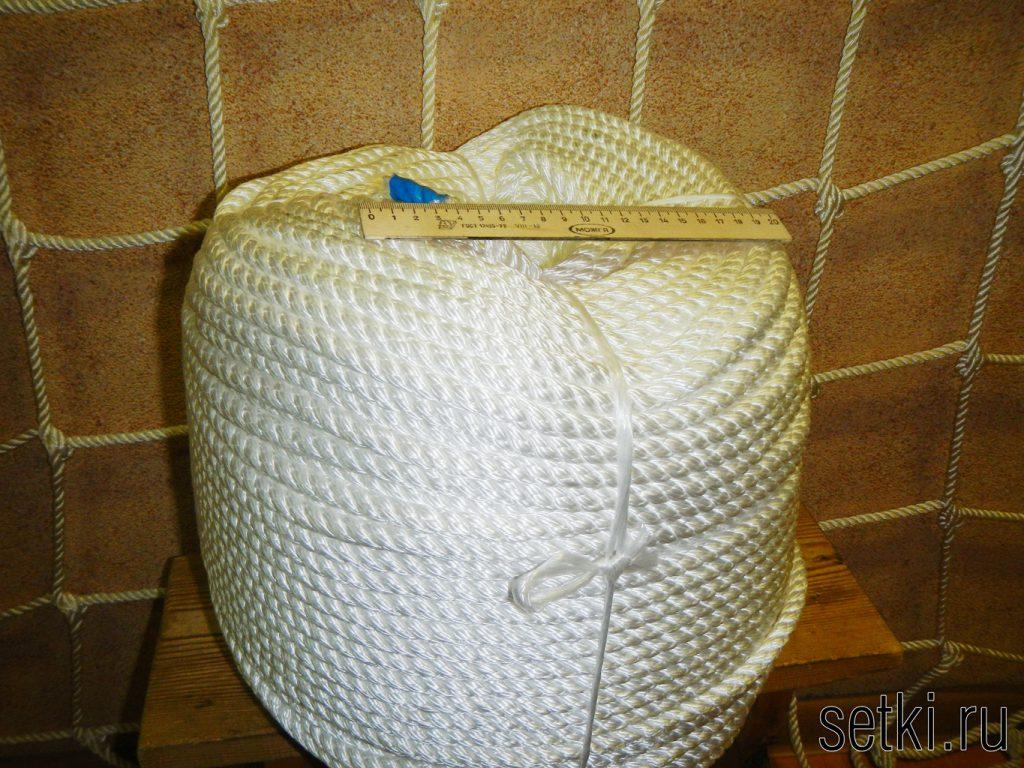 Канат мультитекс крученый трехпрядный белый