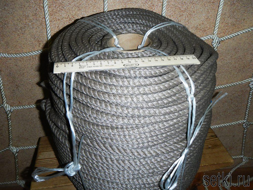 Канат мультитекс крученый трехпрядный серый