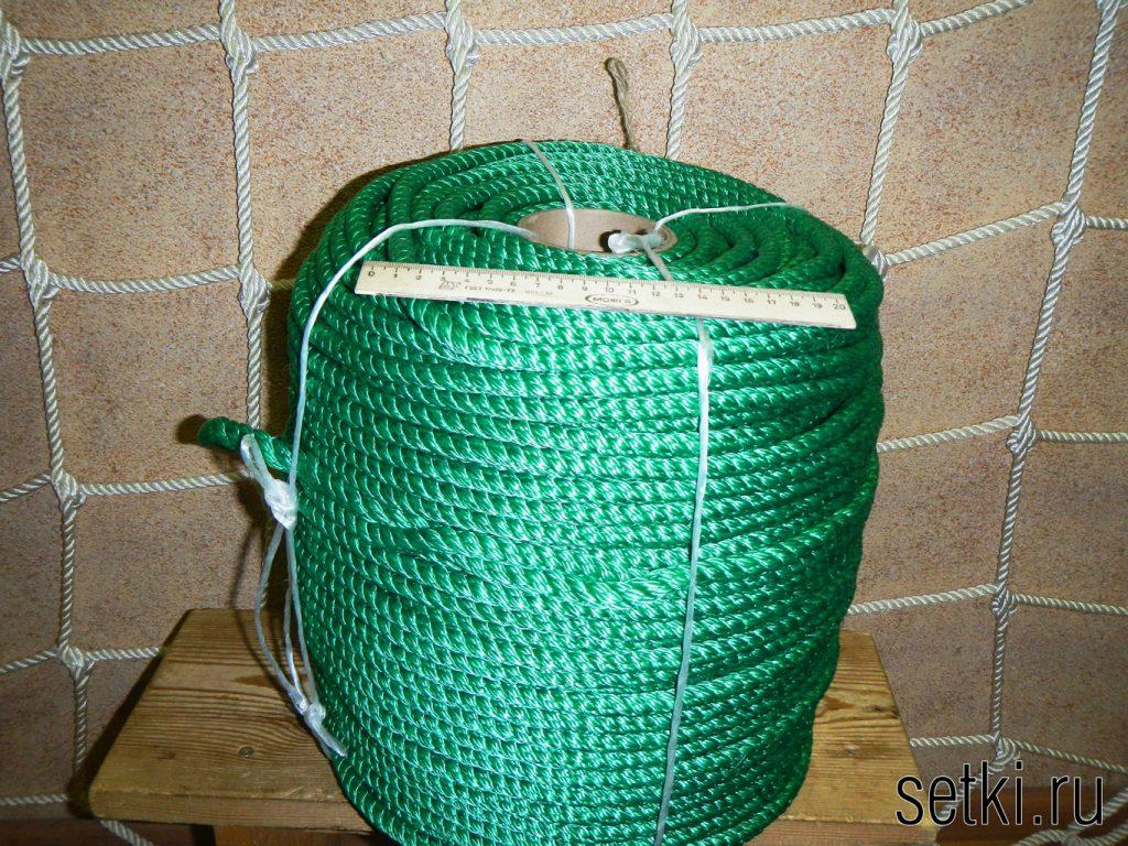 Канат мультитекс крученый трехпрядный зеленый